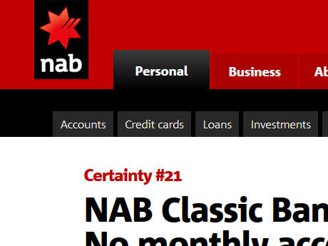 NAB Bank Screenshot