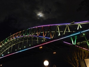 Harbour Bridge during Vivid Sydney 2013