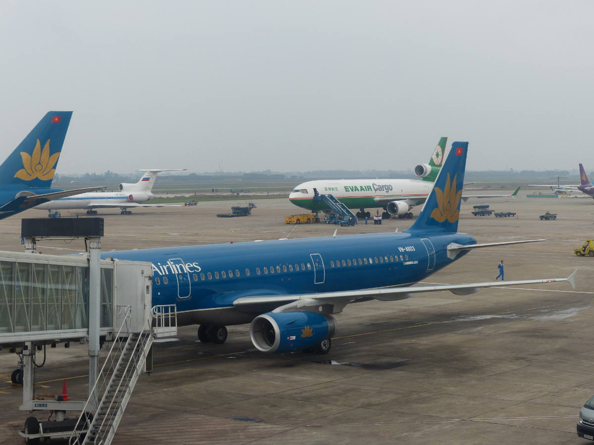 Vietnam Airlines Plane at Hanoi Airport