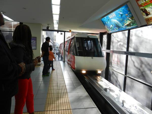 Train at World Square Station