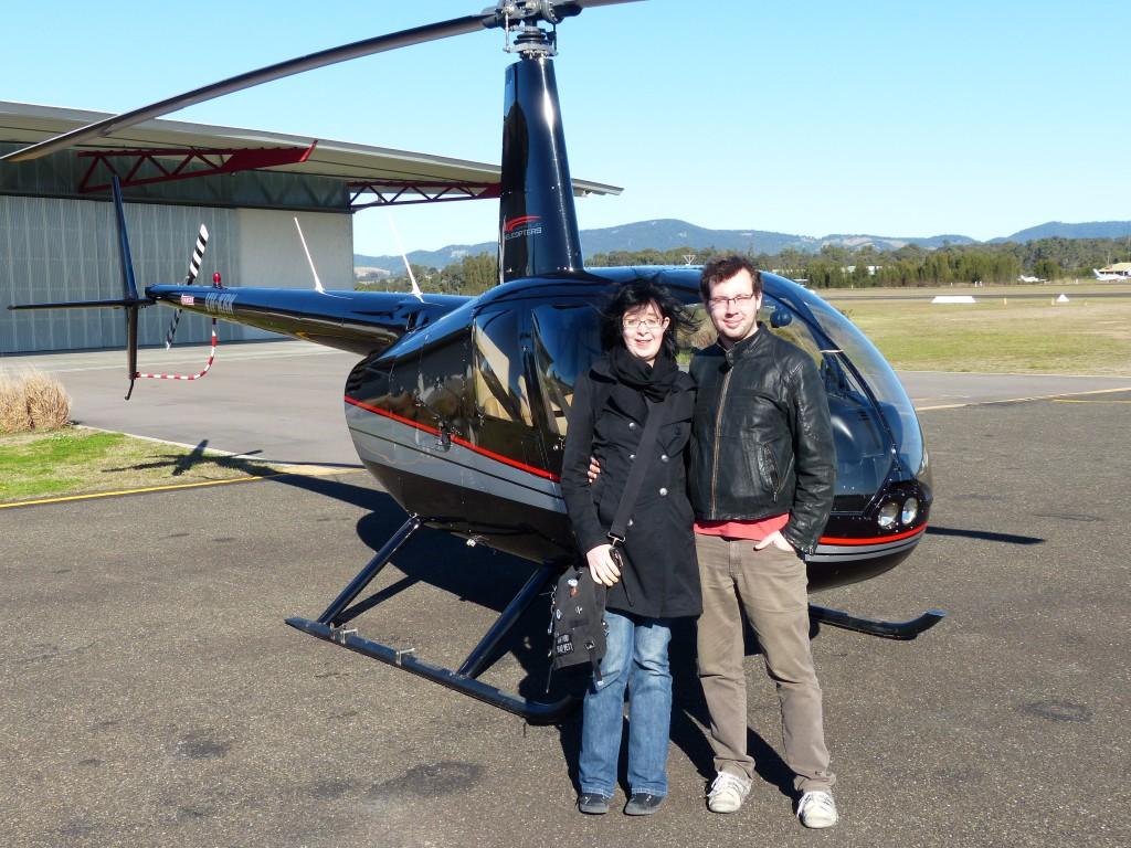 Hubschrauber auf dem Cessnock Flugplatz