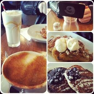 Frühstück @ The Milk Bar in Newtown, Sydney (Waffeln, Pancakes, Eis, Milchshake und Chai Latte)