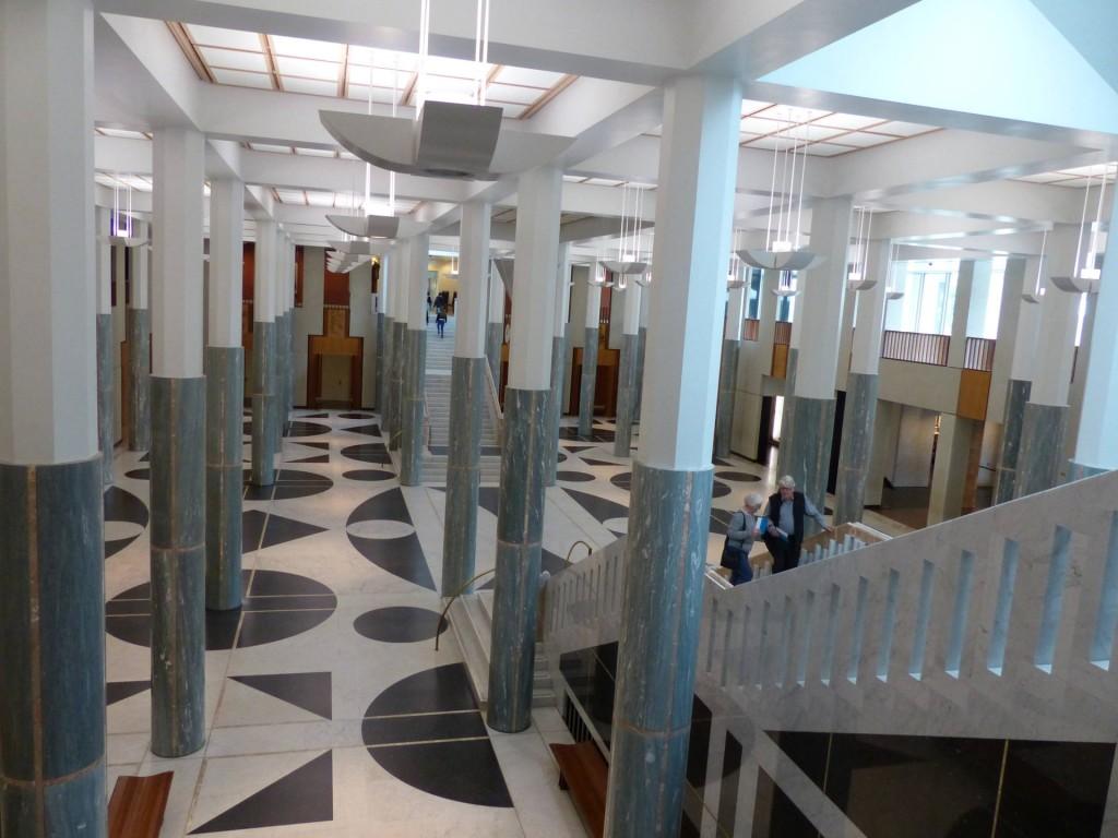 Eingangshalle des neuen Parlament in Canberra, Australien
