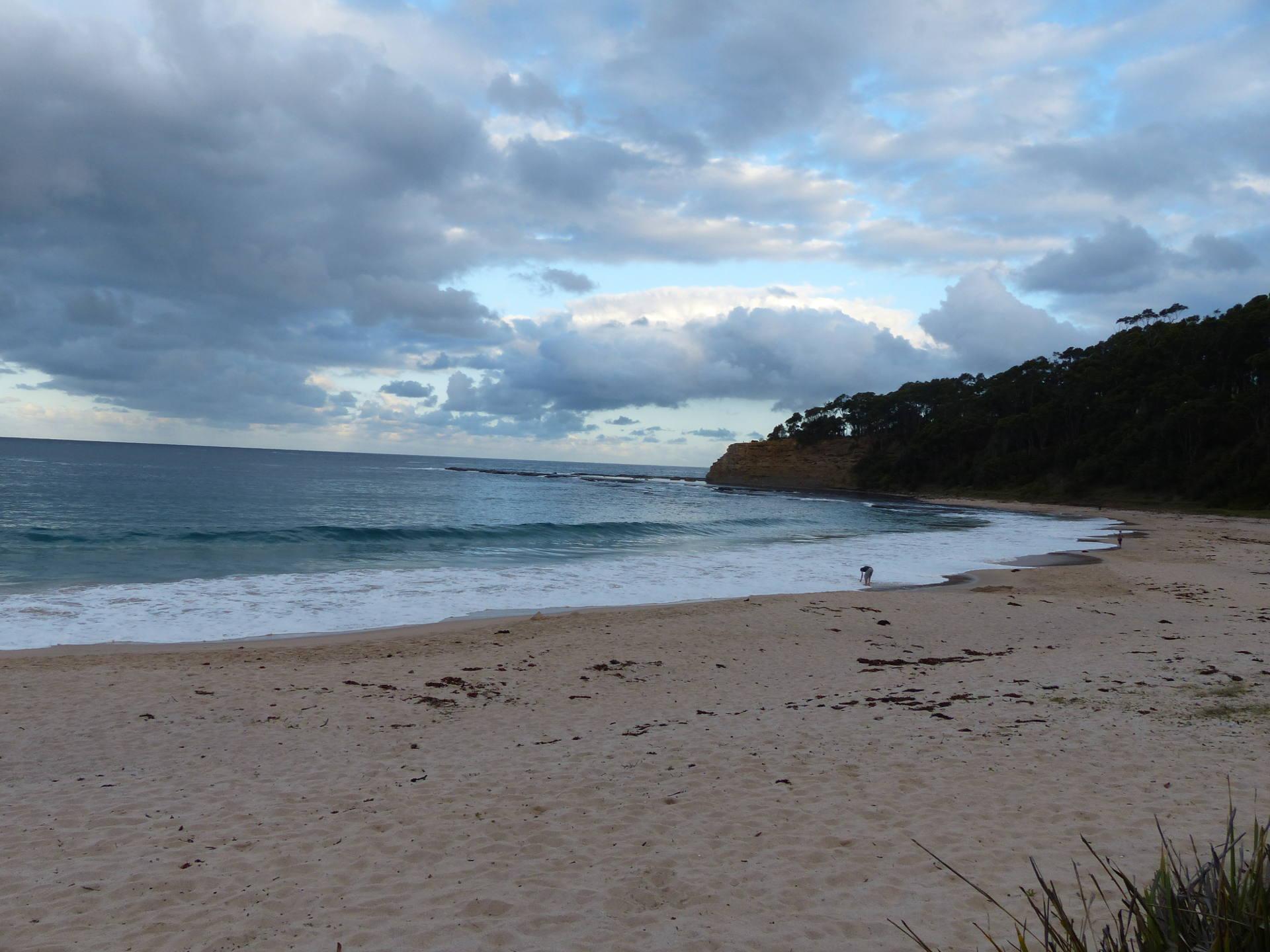 Robert einsam am Strand vom Depot Beach