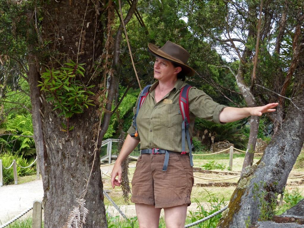 Reiseleiterin auf Sarah Island