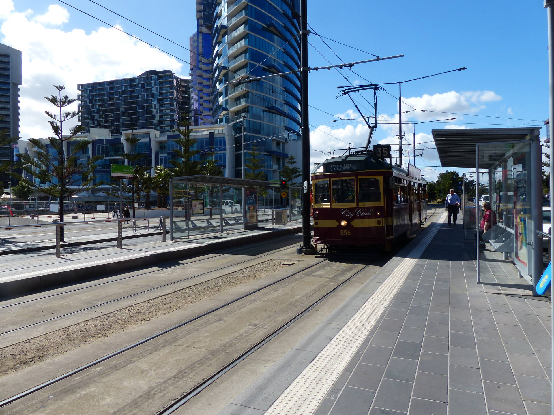 City Circle Tram in den Docklands