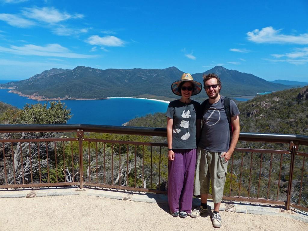 Alina und Robert am Wineglass Bay Lookout