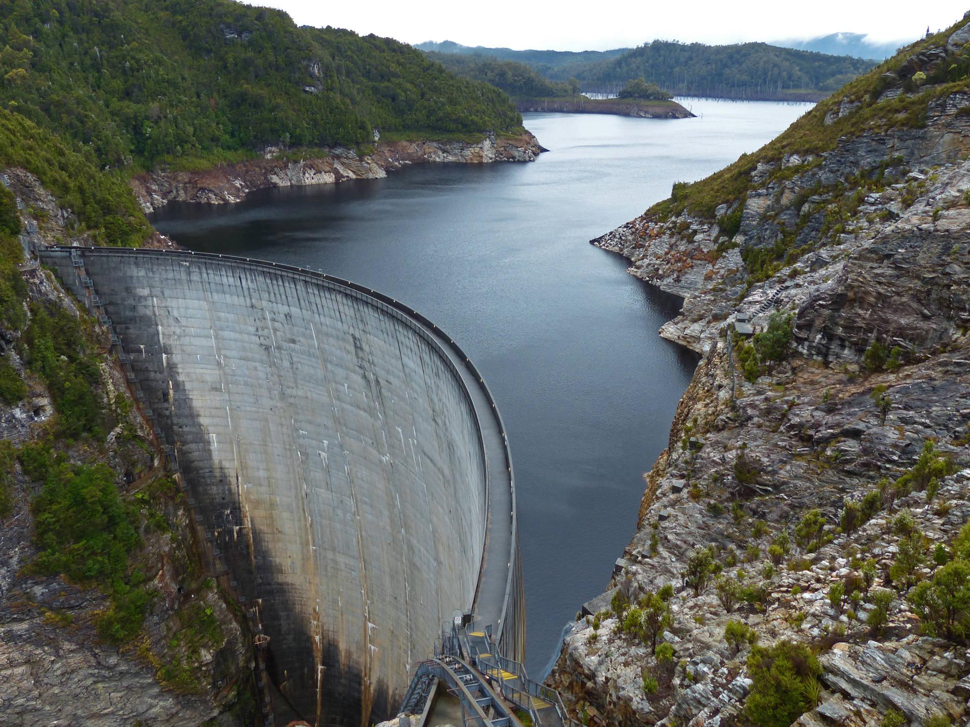 Gordon River Staudamm, Tasmanien