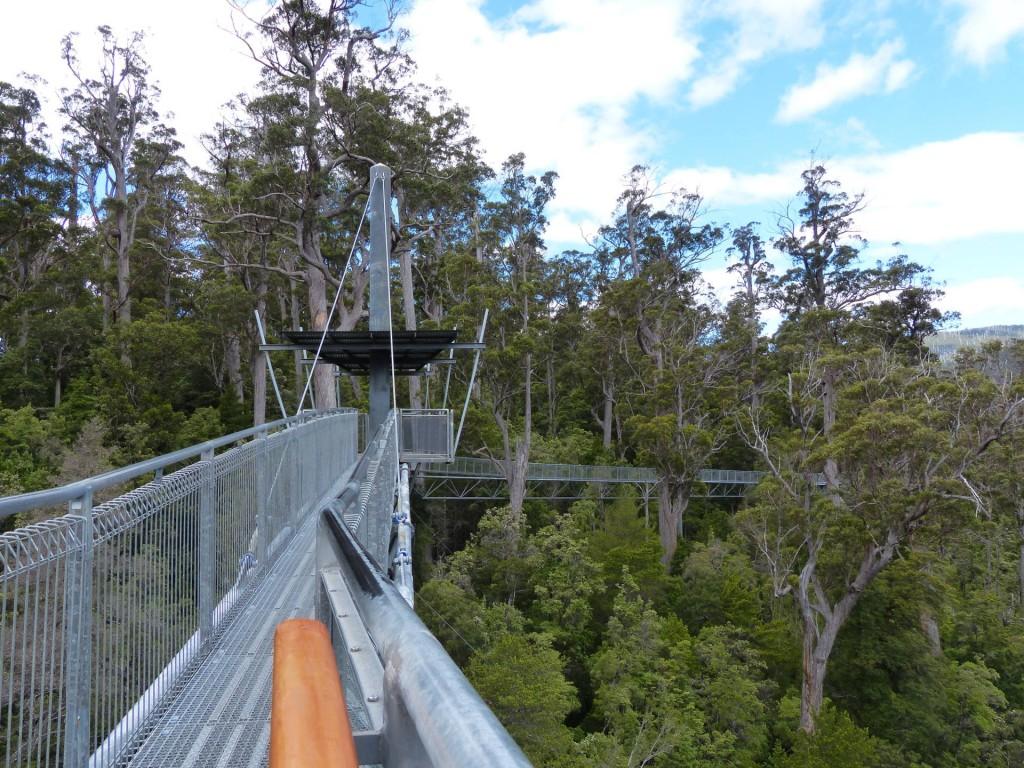 Tahune AirWalk Stahlgerüst, Tasmanien