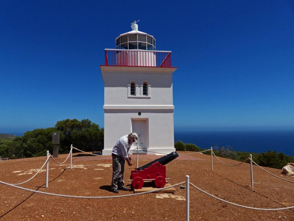 Kanone am Leuchtturm des Cape Borda