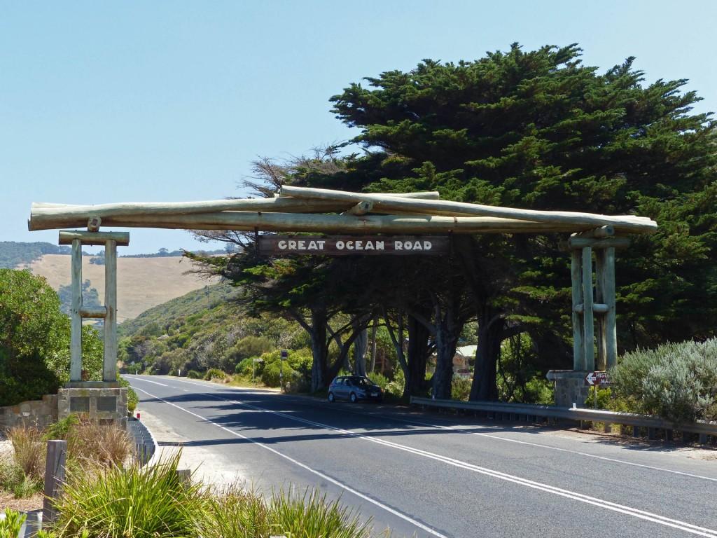 Straßenportal der Great Ocean Road