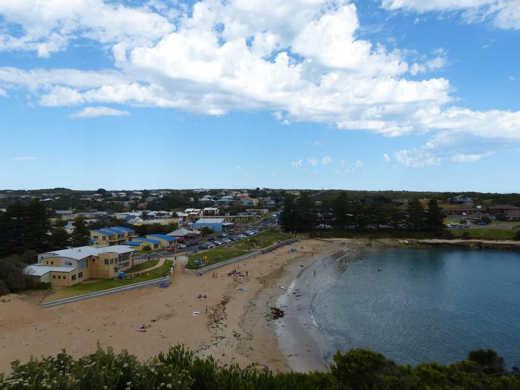 Blick auf den Strand von Port Campbell
